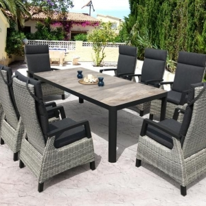 Riley Ceramic Reclining Dining Set