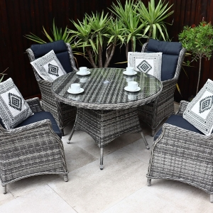 Malmo Deluxe 4 Seat Dining Set