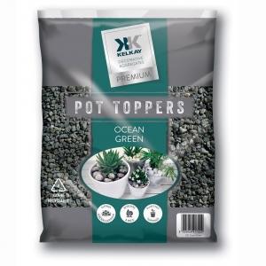 Ocean green pot toppers