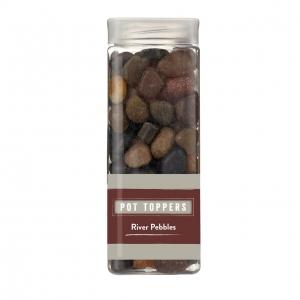 River pebbles pot toppers