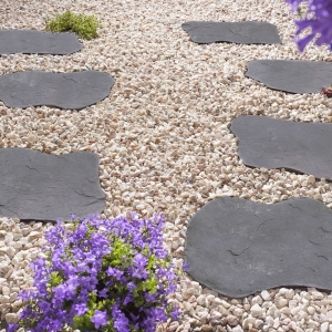 Natural Random Stepping Stones Charcoal