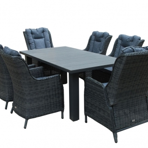 St Lucia 6 seat dining set
