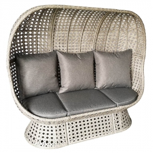 Double Rattan Cocoon Chair