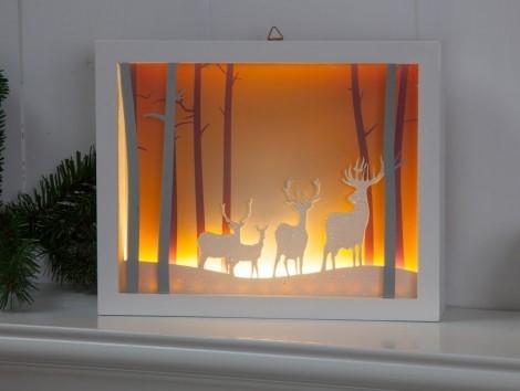 Christmas Scene with Reindeer
