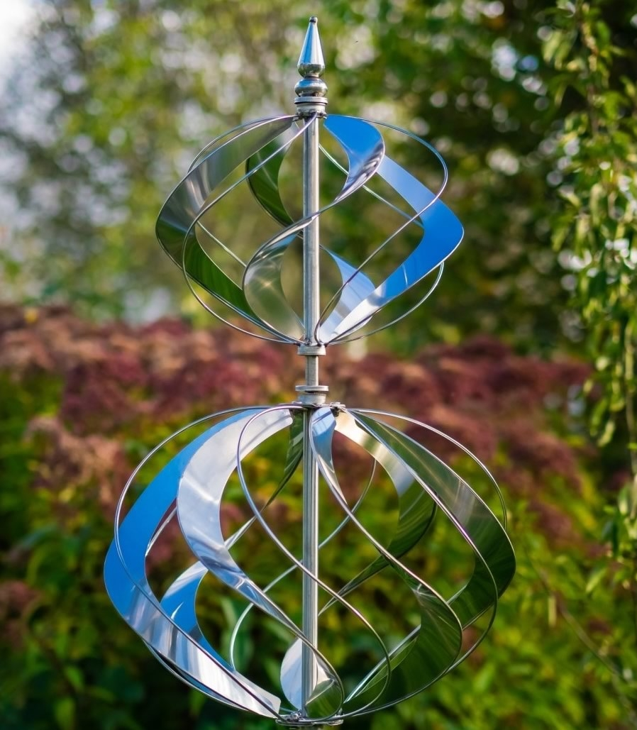 Elizabethan Brushed Steel Wind Sculpture
