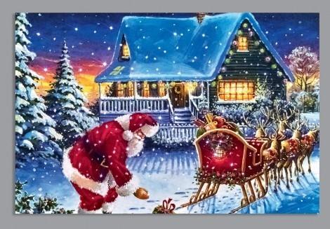 Fibre Optic Santa and Sleigh scene
