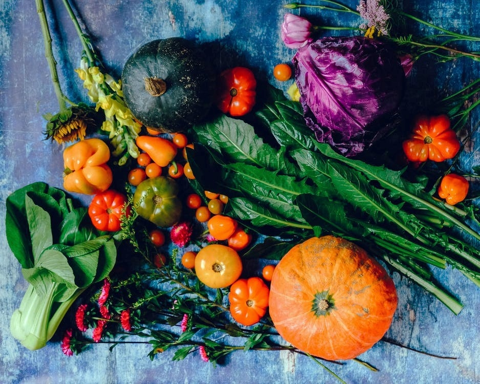 Include fruit and vegetables in your design