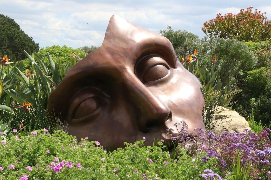 Use garden art to add some panache